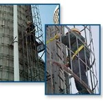 450 foot chimney ladder climbing safety and rescue systems
