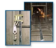 Climbing safety systems for silo chutes and ladders
